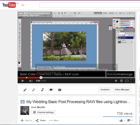 Basic Post Processing workflow using Lightroom 4 and Adobe Photoshop