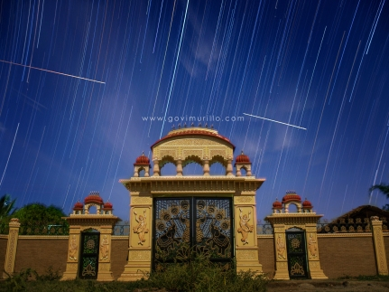Startrails at Vraja Eco Village front gate Laguna Philippines